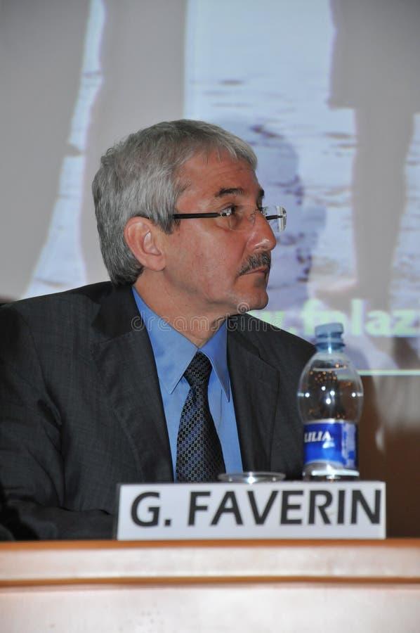 Giovanni Faverin, ex general secretary of CISL FP union royalty free stock photo