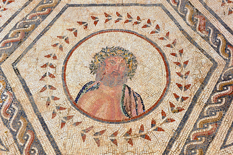 Giove, la Camera del planetario, città romana di Italica, Andalusia, Spagna immagini stock
