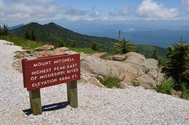Gipfel der Montierung Mitchell stockfotos