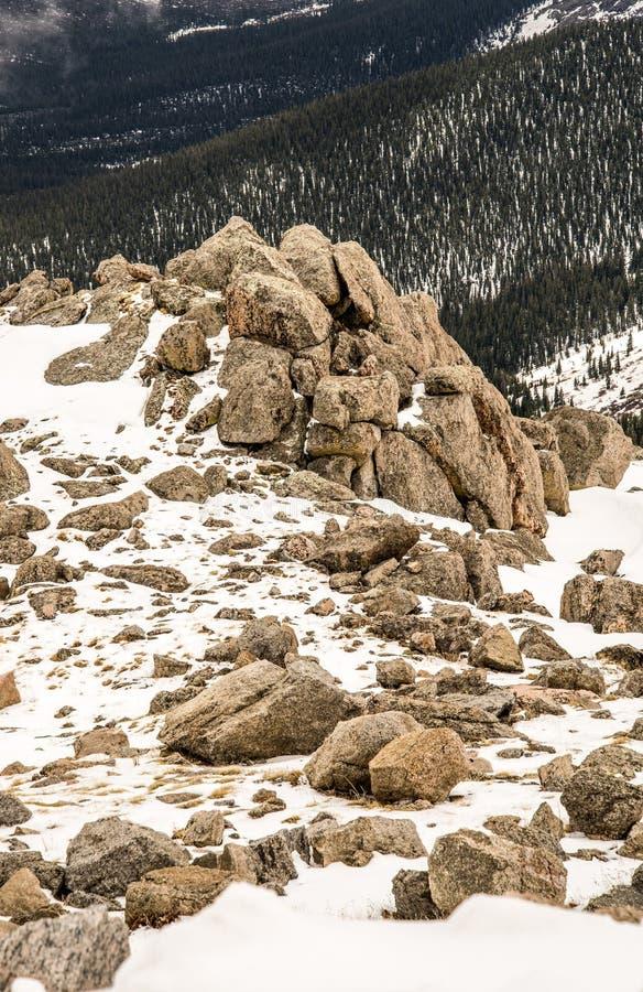 Gipfel des Bergs Evans - Colorado stockfotos