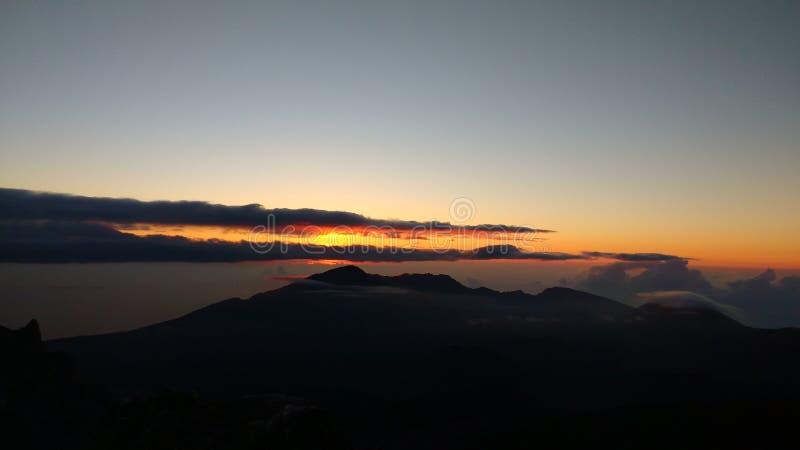 Gipfel in Maui lizenzfreie stockfotos