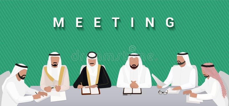 gipfel Sitzung von arabischen Staatsoberhäuptern lizenzfreie abbildung