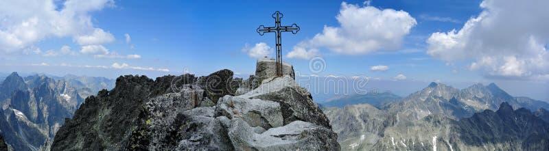 Gipfel von Gerlachovsky-stit, Vysoke Tatry stockfotos