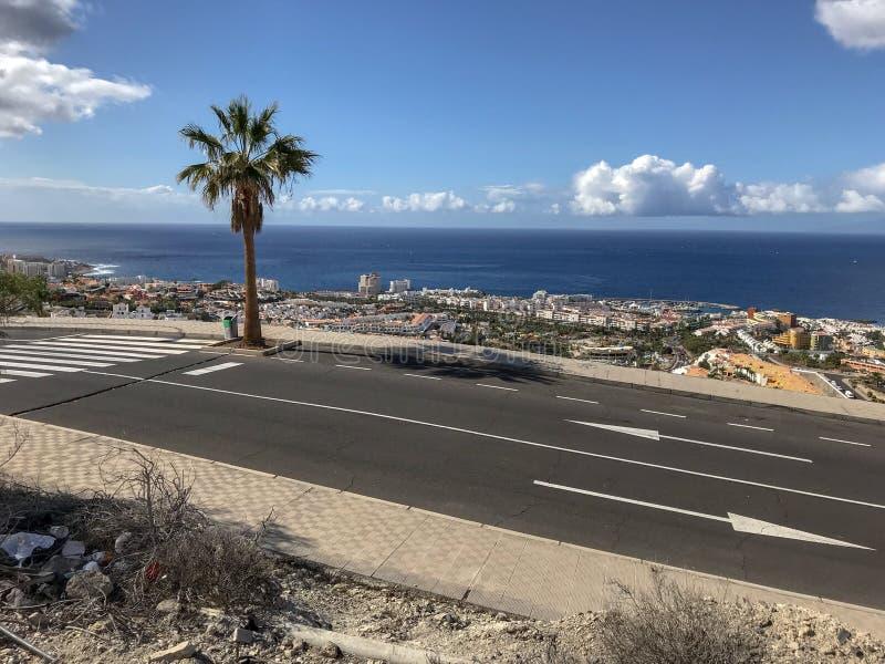 Gipfelansicht von Adeje, Teneriffa stockbild
