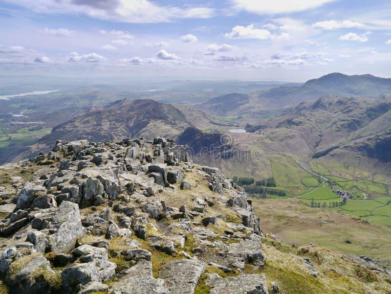 Gipfelbereich von Harrison Stickle, See-Bezirk lizenzfreie stockfotografie