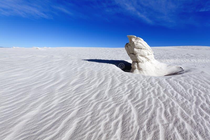 Gips-Berggipfel, Weiß versandet nationales Monument lizenzfreies stockbild