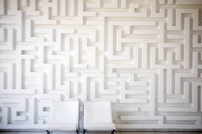 Gips witte muur in het huis stock foto
