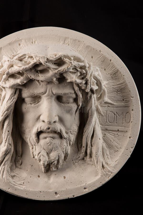 Gipsstatue des Gesichtes von Christus stockfotos