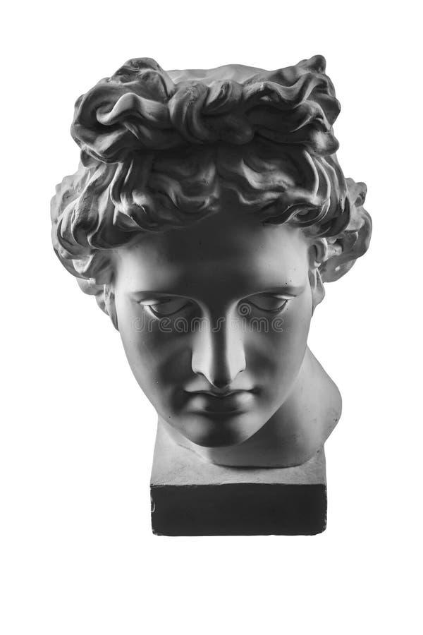 Gipsstatue von Apollo-` s Kopf stockfotografie
