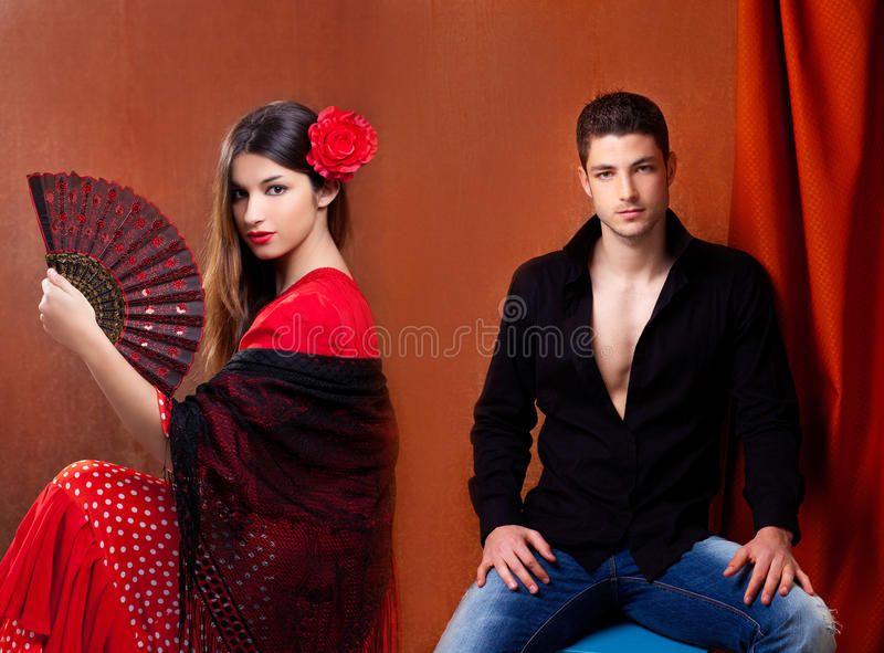 Download Gipsy Flamenco Dancer Couple From Spain Stock Image - Image: 24315139
