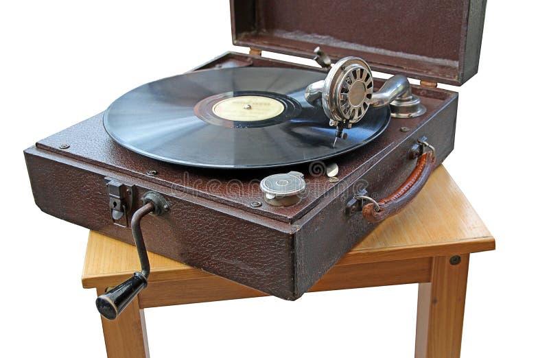 Giradischi d'annata della fonografo fotografia stock