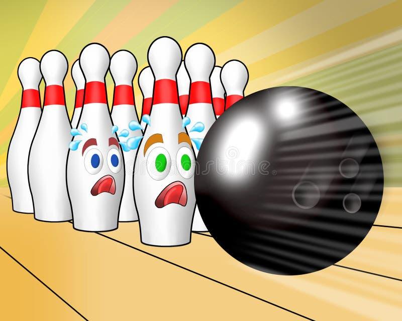 Girador do rei do bowling ilustração do vetor