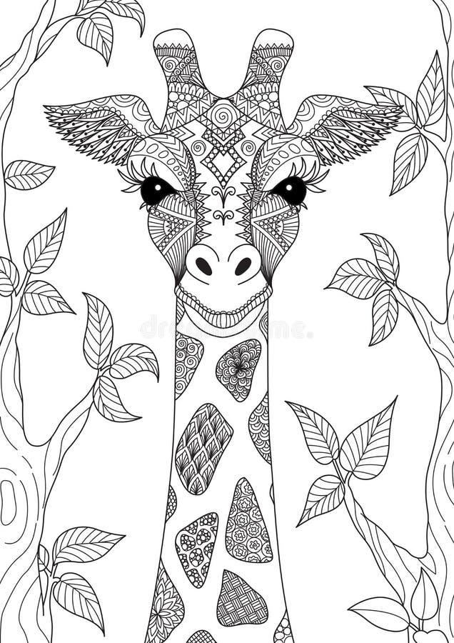 Giraf royalty-vrije illustratie