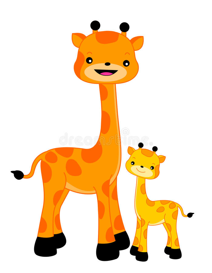 Giraf/Giraffen vector illustratie