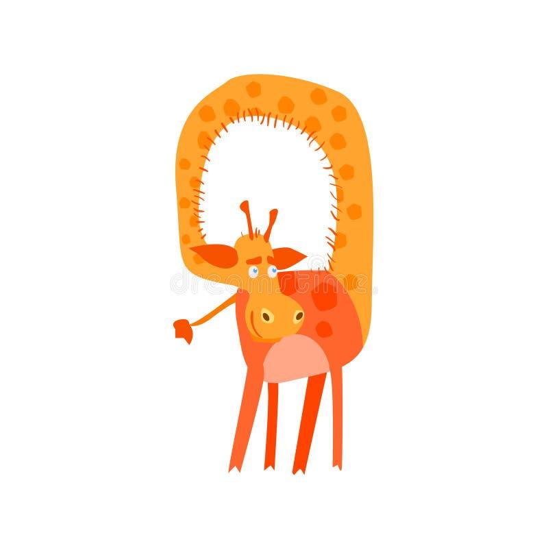 Giraf met Verdraaide Hals vector illustratie