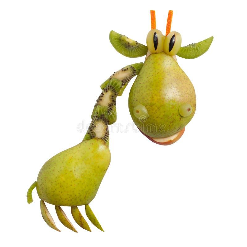 Giraf van peer wordt gemaakt die stock afbeeldingen