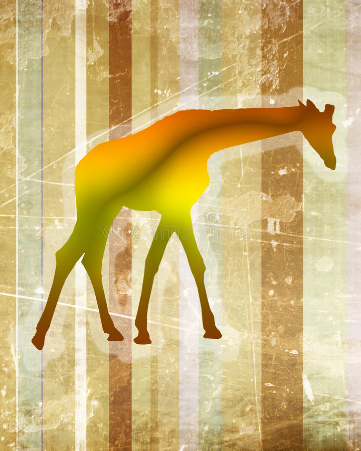 Girafa artística fotografia de stock