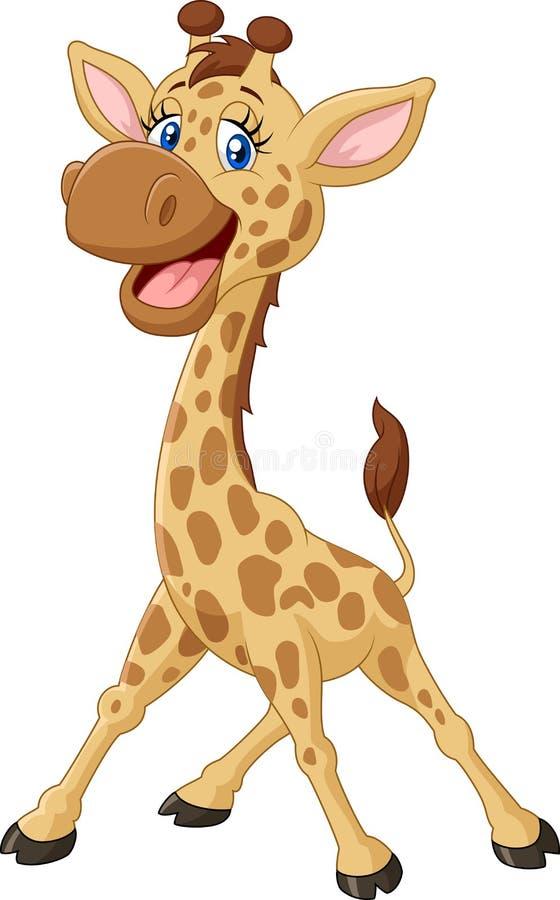 Girafa de sorriso dos desenhos animados ilustração stock