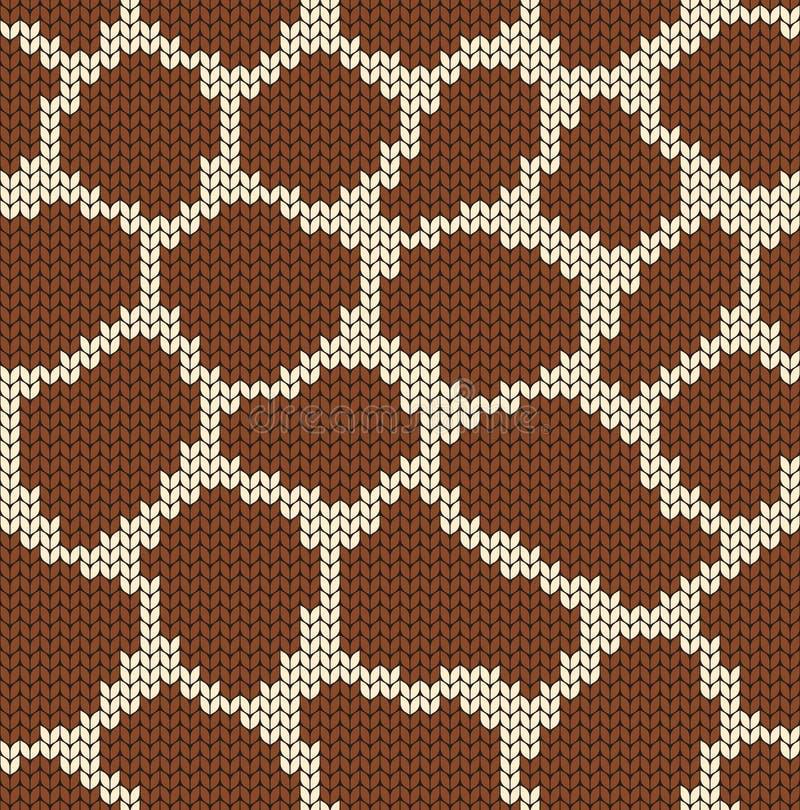 Girafbont Naadloze decoratieve achtergrond Gebreid patroon voor sweater, sjaal, sokken Jacquardweefsel behang royalty-vrije illustratie