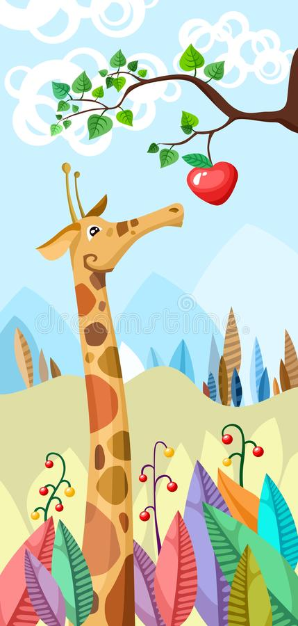 Girafe illustration de vecteur