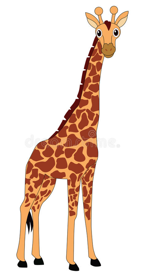 Girafe illustration stock