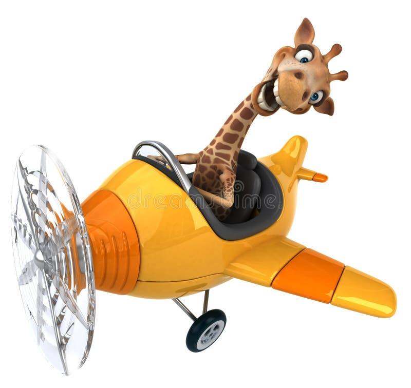 Girafe d'amusement illustration stock