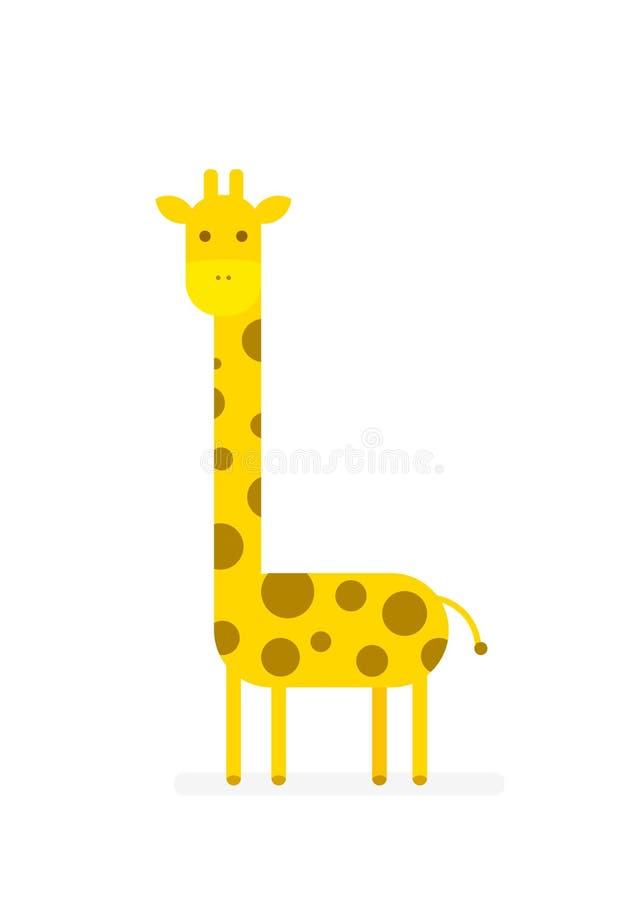 Girafe de bande dessinée de vecteur illustration stock
