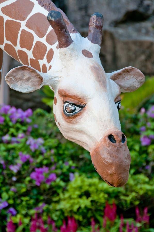 Girafe della sosta di Nong Nooch fotografia stock libera da diritti