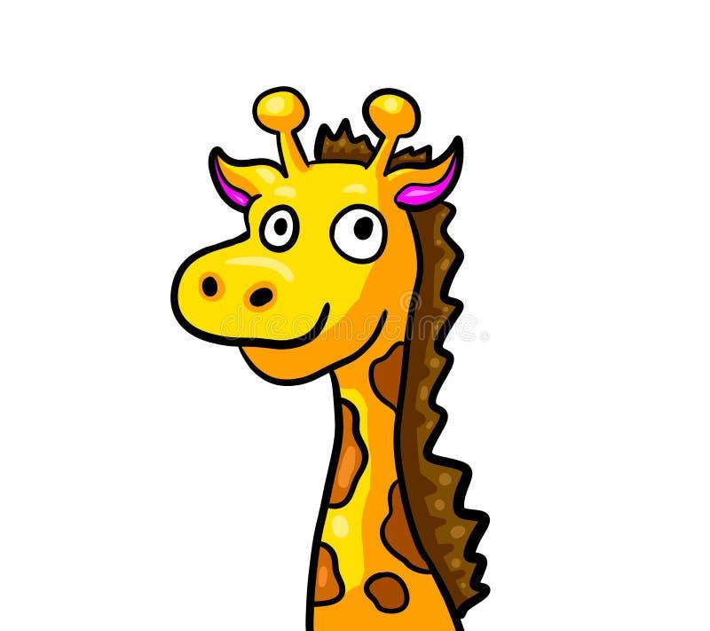 Girafe drôle épique illustration libre de droits