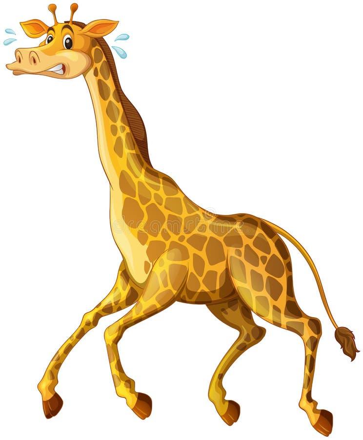 Girafe fonctionnant à partir de quelque chose illustration libre de droits