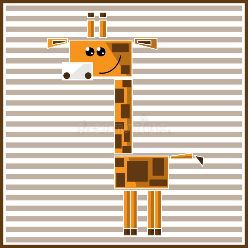 Girafe géométrique abstraite photos libres de droits