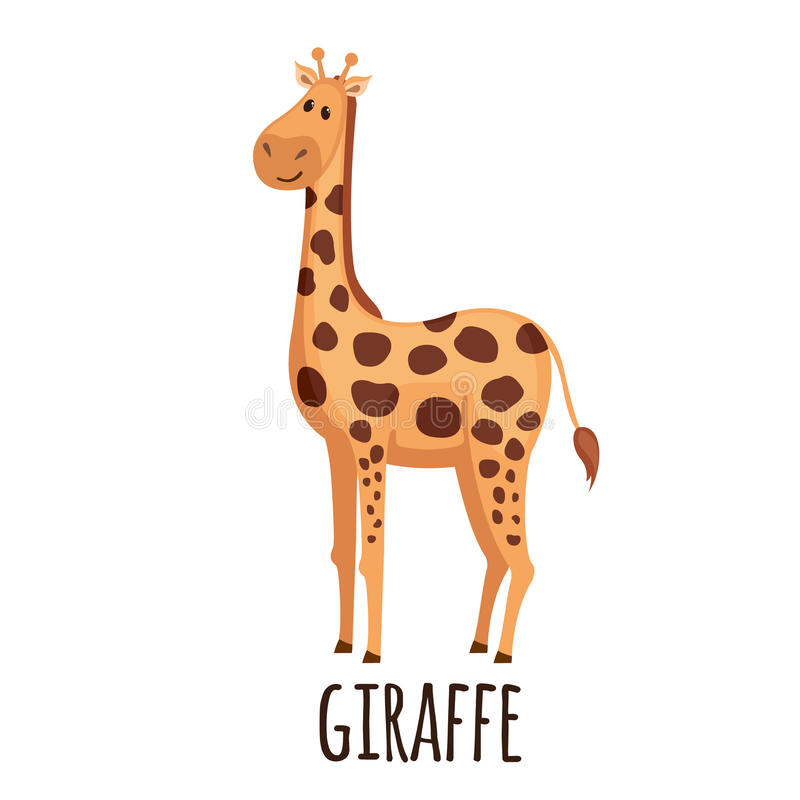 Girafe mignonne dans le style plat illustration stock