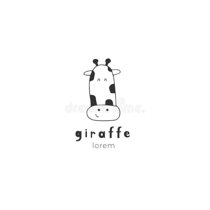 Girafe tirée par la main E illustration de vecteur