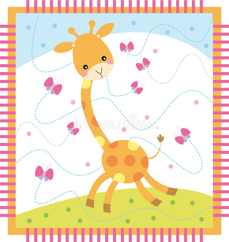 giraff vektor illustrationer