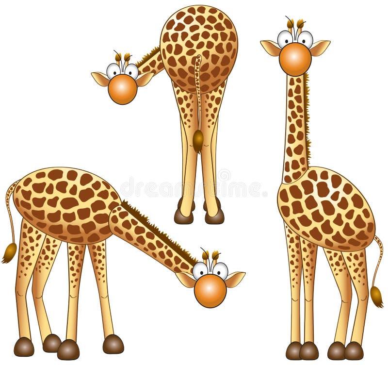giraff stock illustrationer