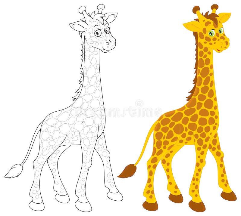 Giraff royaltyfri illustrationer