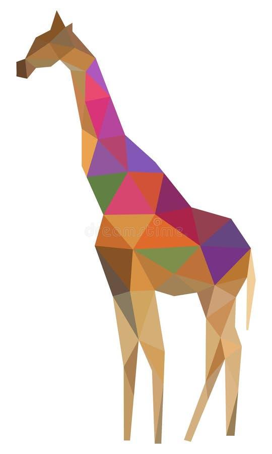 Giraff Polygonal konst vektor illustrationer