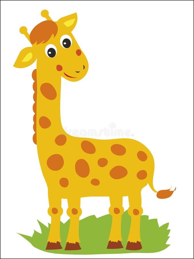 Giraff Vektorgiraff Stå giraff afrikanskt djur vektor illustrationer