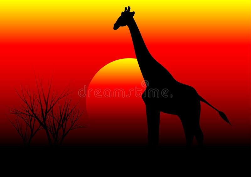 Giraffa in Africa royalty illustrazione gratis