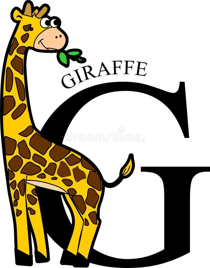 Giraffa animale di alfabeto illustrazione vettoriale