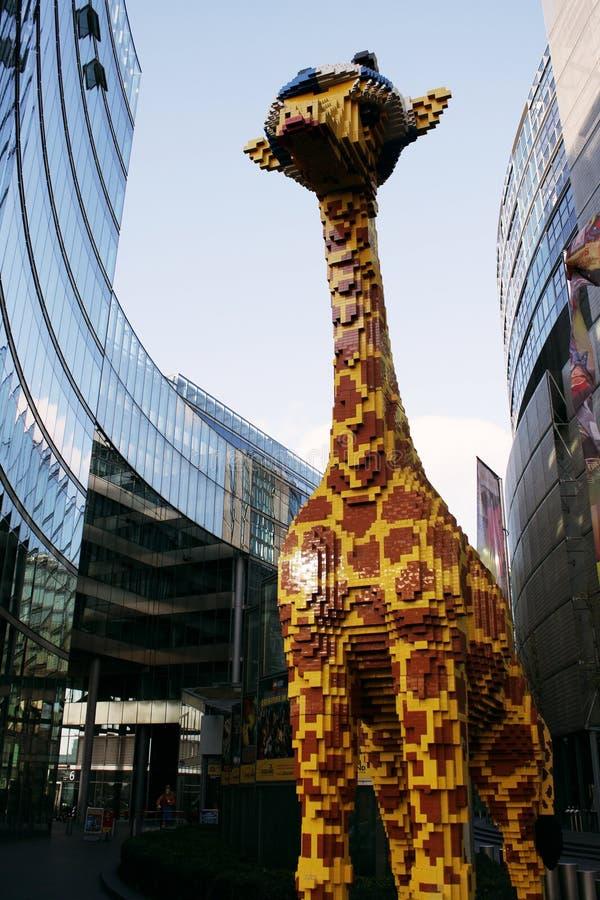 Giraffa di Lego fotografia stock libera da diritti