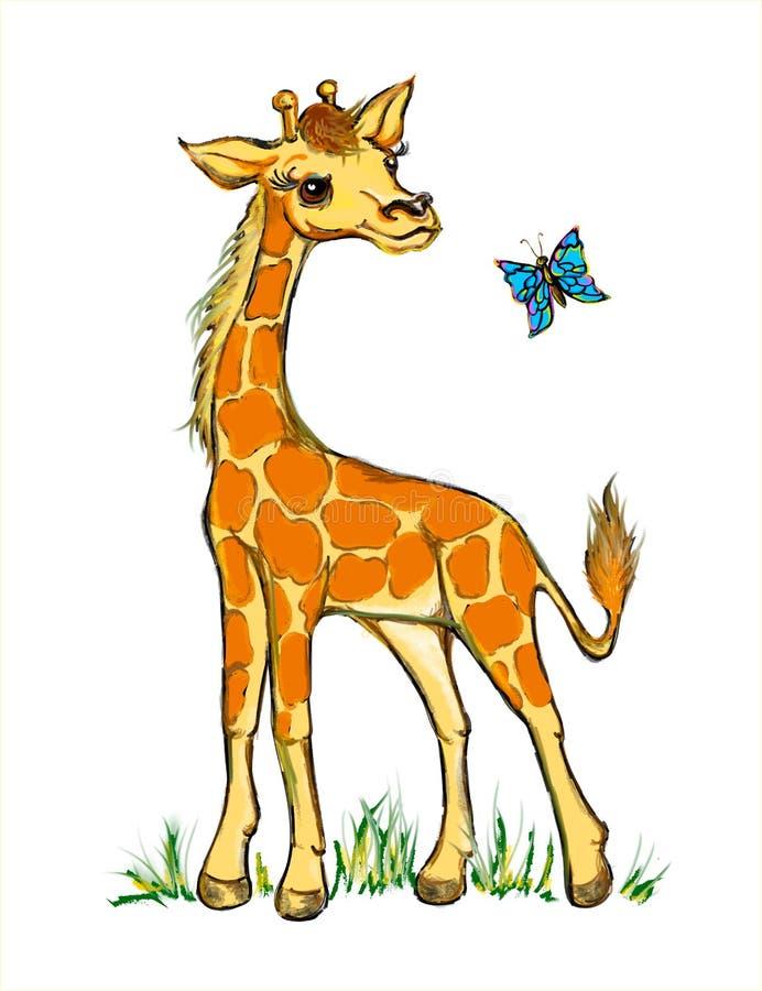 Giraffa divertente illustrazione vettoriale