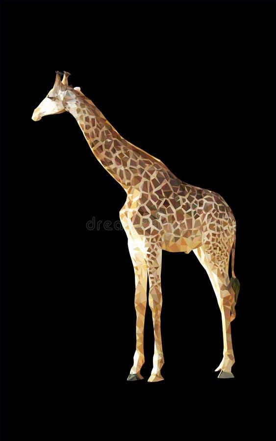 Giraffa geometrica del poligono immagini stock