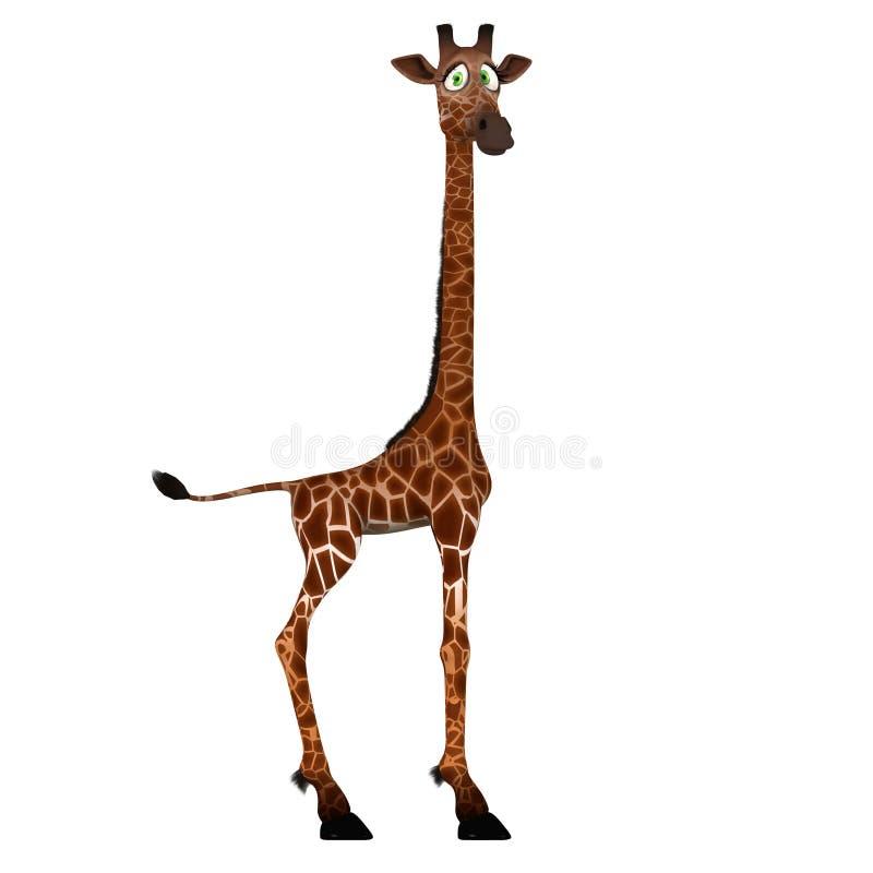 Giraffa sveglia con un fronte divertente - bello illustrazione di stock