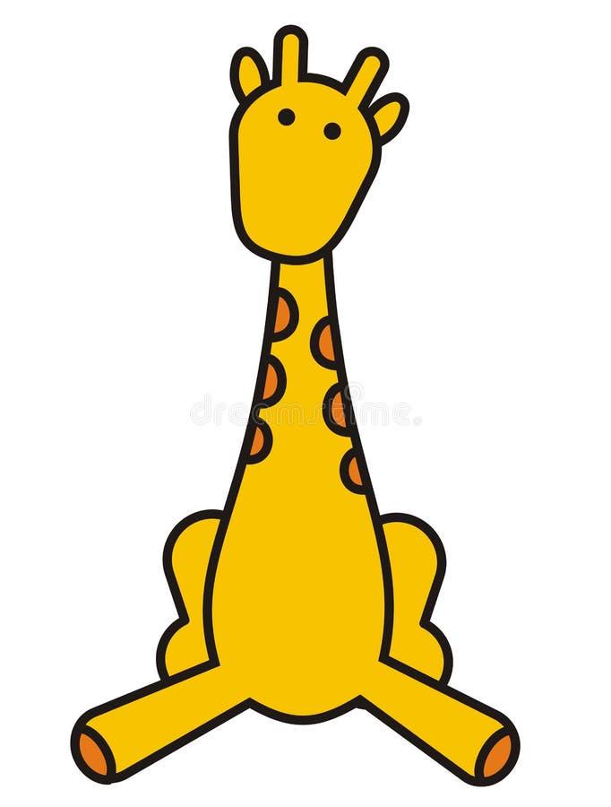 Giraffa sveglia del bambino illustrazione di stock