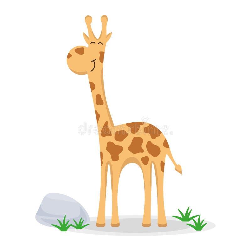 Giraffa in uno stile del fumetto illustrazione vettoriale