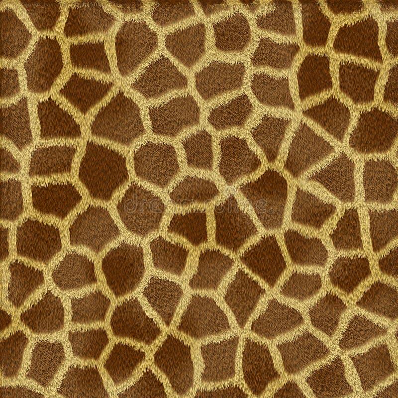 giraffe γουνών σύσταση διανυσματική απεικόνιση
