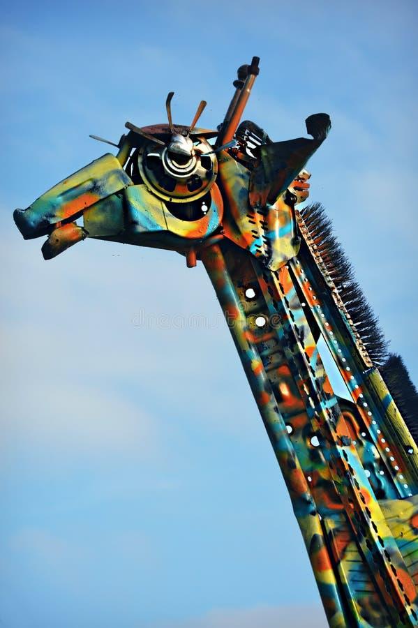 Giraffe γλυπτό στοκ εικόνα