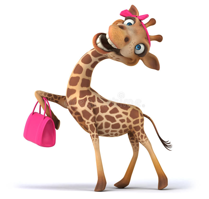 Giraffe διασκέδασης ελεύθερη απεικόνιση δικαιώματος