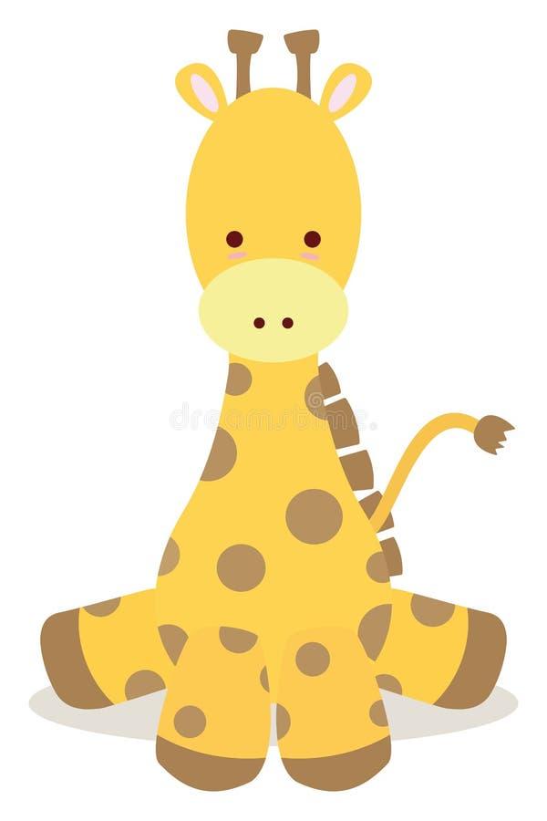 giraffe μωρών ελεύθερη απεικόνιση δικαιώματος